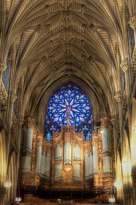 Organ Gallery, St Patrick's Cathedral