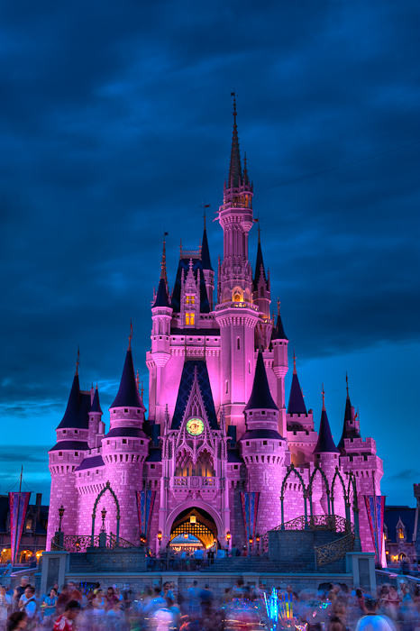 Disney castle at dusk dave wilson photography