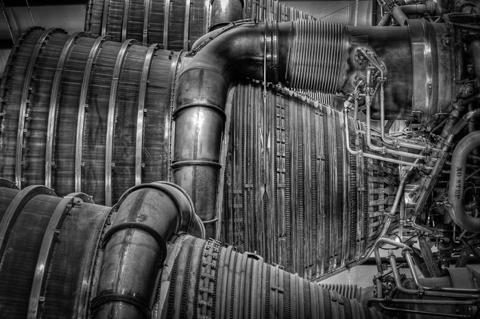 First Stage Engine Detail, Saturn V