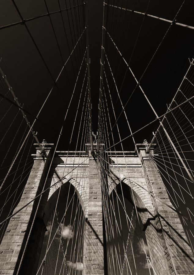 Brooklyn Bridge: Tower and Cables