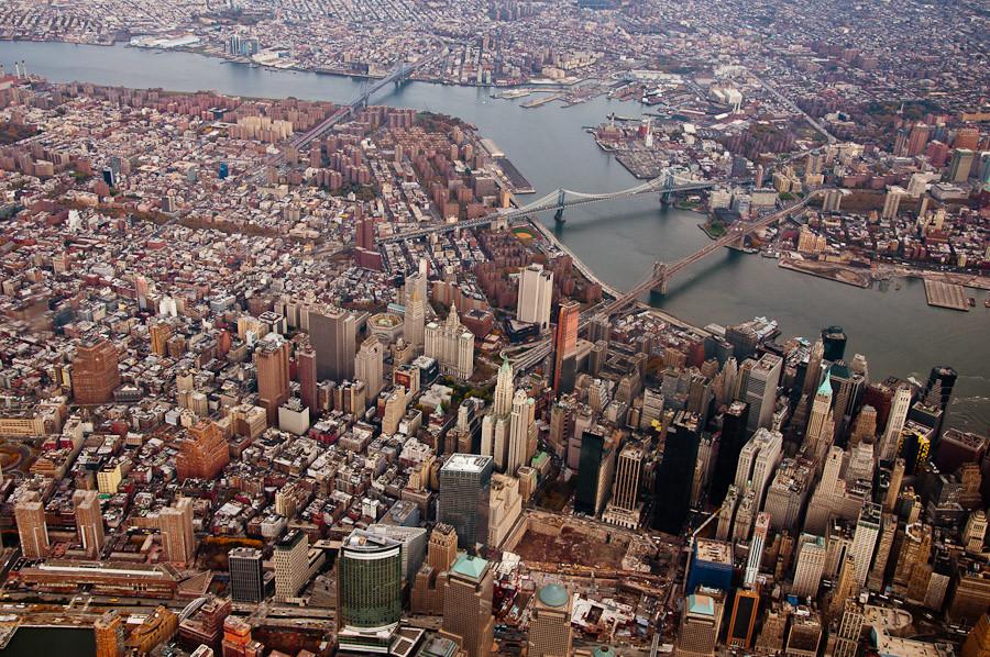 Downtown Manhattan and Bridges