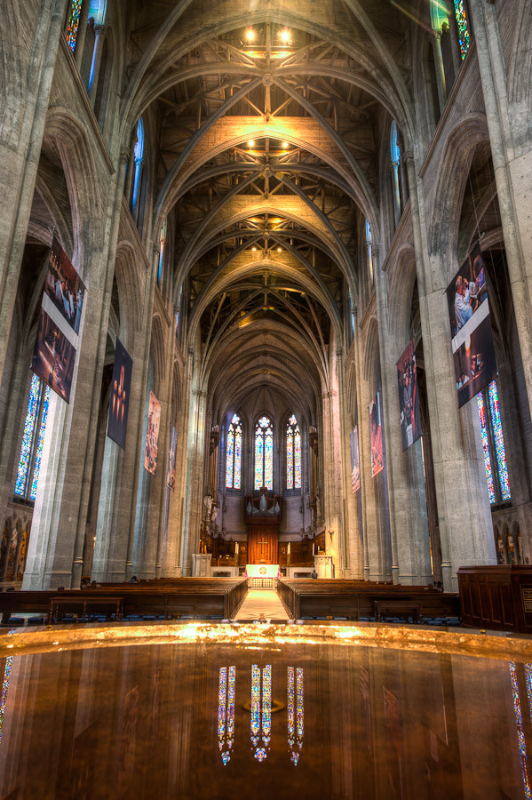 Grace Cathedral Nave San Francisco Dave Wilson Photography