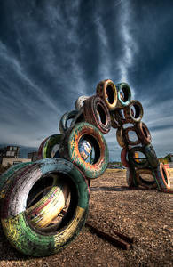 Tire Sculpture, Austin, Texas