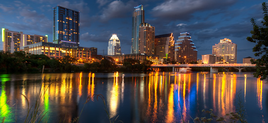 Blue Hour Skyline, Austin